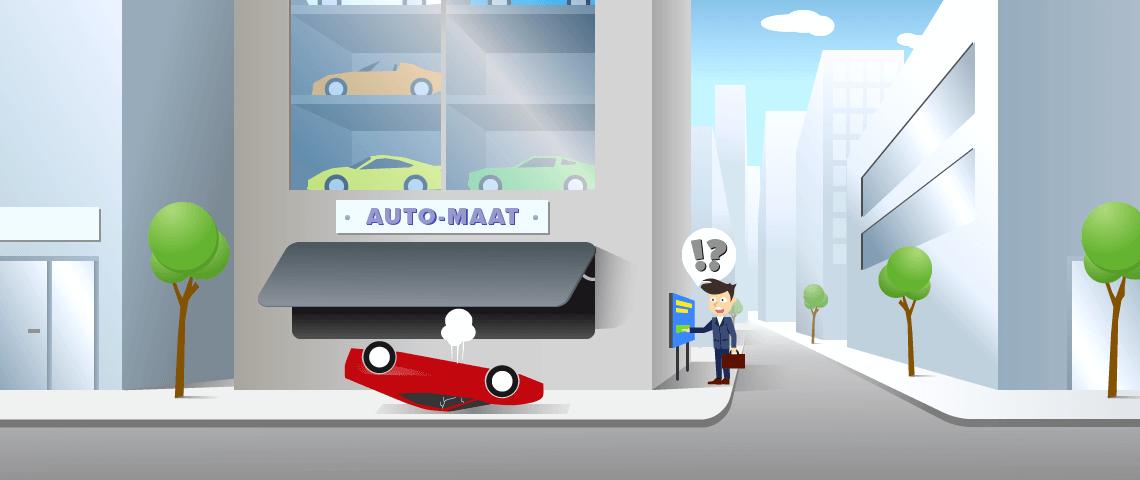 Een automaat waar je jouw nieuwe, luxe sportauto uit kan trekken